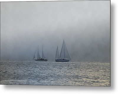 Incoming Fog Bank Metal Print by Bill Cannon
