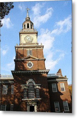 Independence Hall Metal Print by Rick Thiemke