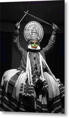 Indian Kathakali Dance Of Kerela 2 Metal Print by Sumit Mehndiratta