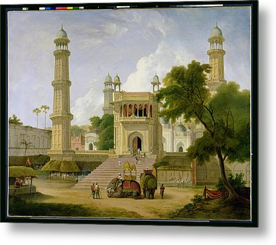 Indian Temple Metal Print by Thomas Daniell