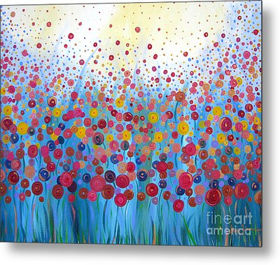 Metal Print featuring the painting Infinite Romance by Stacey Zimmerman