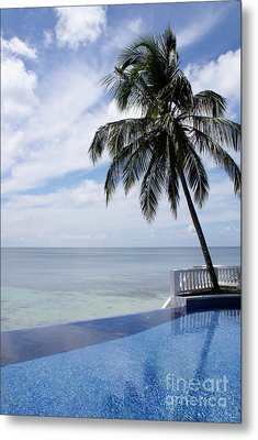 Metal Print featuring the photograph Infinity Pool Big Corn Island Nicaragua by John  Mitchell