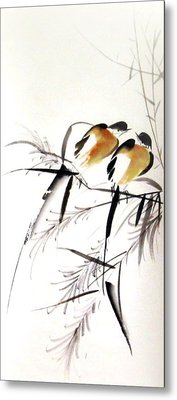 Inseparable Couple Metal Print by Ming Yeung
