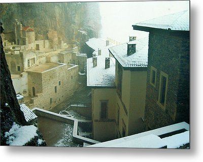 Metal Print featuring the photograph Inside The Monastery by Lou Ann Bagnall