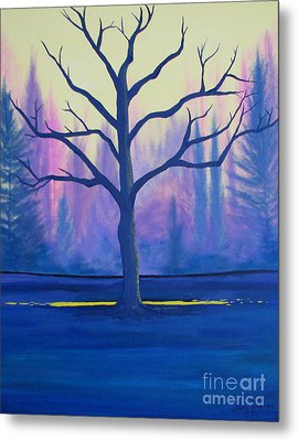 Metal Print featuring the painting Inspiration Tree by Stacey Zimmerman