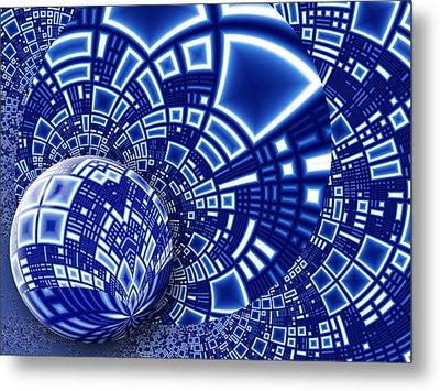Interstellar City Metal Print by Pam Blackstone
