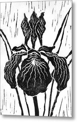 Iris Block Print Metal Print