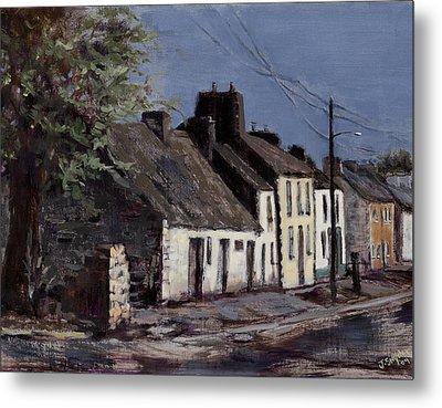 Irish Cottages Metal Print