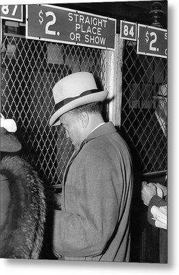 J. Edgar Hoover Placing A Bet Metal Print by Everett