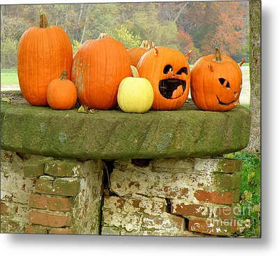 Metal Print featuring the photograph Jack-0-lanterns by Lainie Wrightson