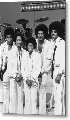 Jackson Five, The Group Portrait Shot Metal Print by Everett