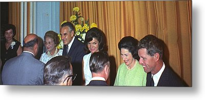 Jacqueline And Robert Kennedy Host Metal Print by Everett