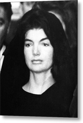 Jacqueline Kennedy At The Lying Metal Print