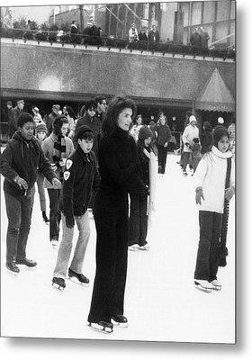Jacqueline Kennedy Onassis Ice Skating Metal Print