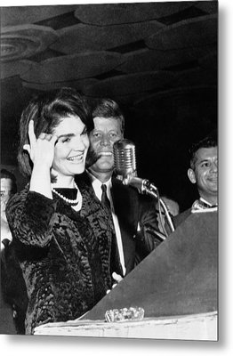 Jacqueline Kennedy Speaking In Spanish Metal Print by Everett