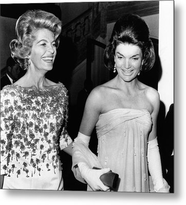 Jacqueline Kennedy With The Wife Metal Print