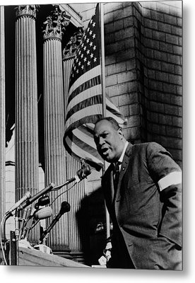 James Farmer, Speaking At Foley Square Metal Print by Everett