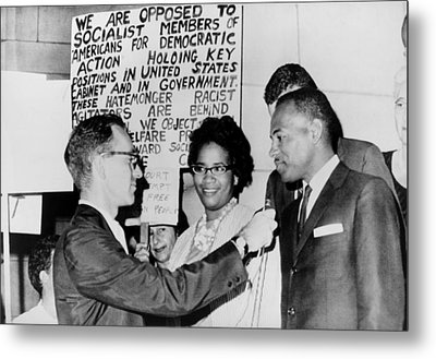 James Meredith And Wife In Front Metal Print by Everett