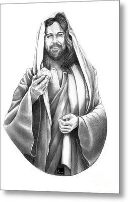 Jesus Christ Metal Print by Murphy Elliott