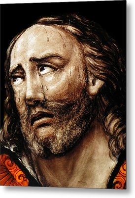 Jesus Tears Metal Print by Munir Alawi