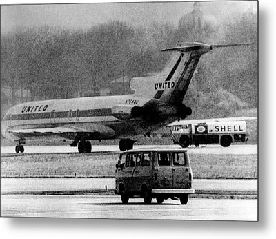 Jet Liner Hijacked To Cuba. The United Metal Print by Everett