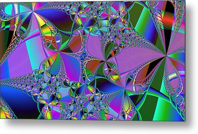 Metal Print featuring the digital art Jeweled Fantasy by Ann Peck