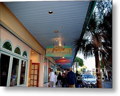 Jimmy Buffet's Margaritaville Key West Metal Print by Susanne Van Hulst