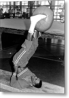 Joe Frazier In Training At The Concord Metal Print by Everett