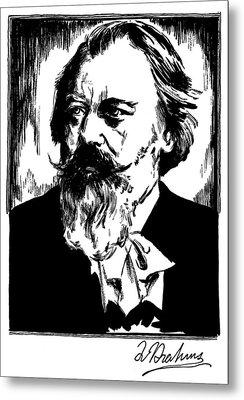 Johannes Brahms (1833-1897) Metal Print by Granger