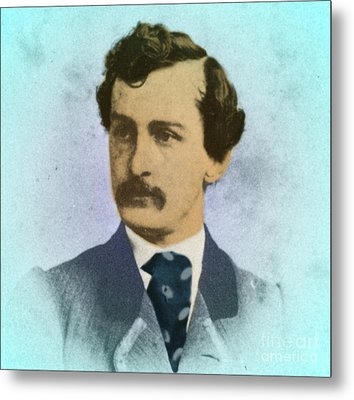 John Wilkes Booth, Assassin Metal Print by Photo Researchers