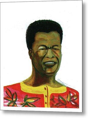 Jose Belo Chipenda Metal Print by Emmanuel Baliyanga