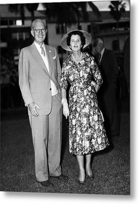 Joseph P. Kennedy And Wife Rose Metal Print by Everett