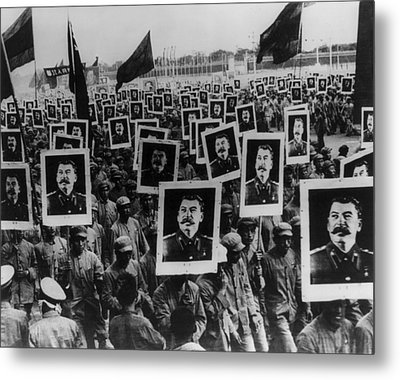 Joseph Stalin Celebrated In Red China Metal Print by Everett