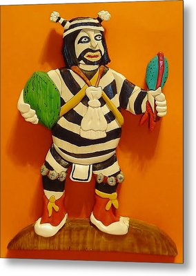 Kachina Clown  Metal Print by Russell Ellingsworth