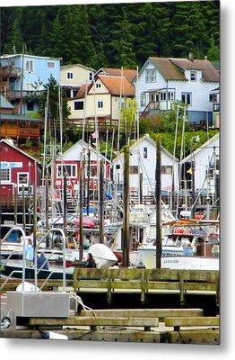 Ketchakan Alaska Marina Metal Print by Mindy Newman