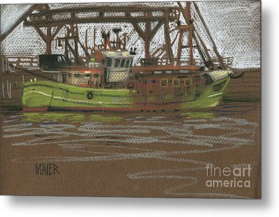 Kilmore Quay Fishing Trawler Metal Print by Donald Maier