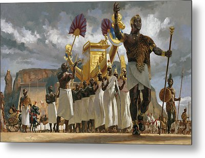King Taharqa Leads His Queens Metal Print by Gregory Manchess