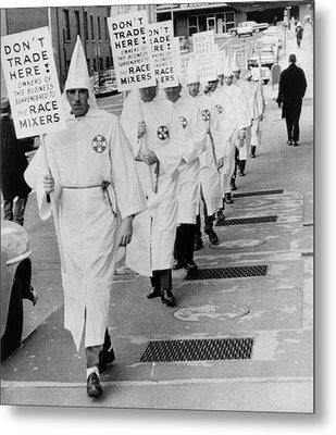 Ku Klux Klansmen Picket Newly Metal Print by Everett