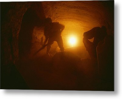 Laborers Clear Rubble From The Tomb Metal Print by Kenneth Garrett