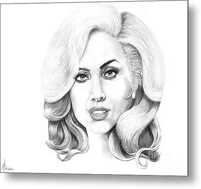 Lady Gaga Metal Print