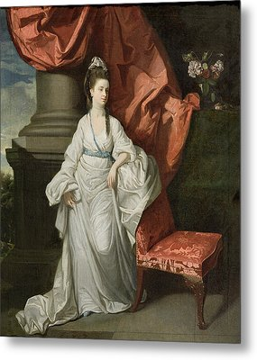Lady Grant - Wife Of Sir James Grant Metal Print by Johann Zoffany