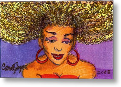 Lady In Red Metal Print by Carole Joyce