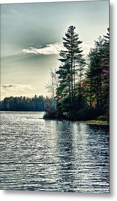 Lake In Nh Metal Print by Edward Myers