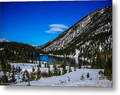 Metal Print featuring the photograph Lake In The Mountains by Shannon Harrington