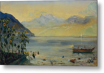 Lake Leman With The Dents Du Midi In The Distance Metal Print