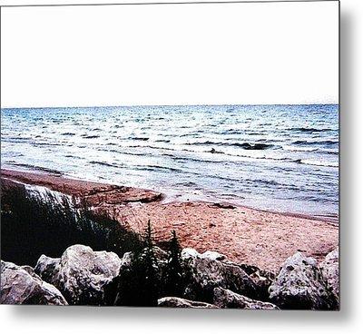 Lake Michigan Lll Metal Print by Marsha Heiken