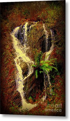 Lake Shasta Waterfall 3 Metal Print by Garnett  Jaeger