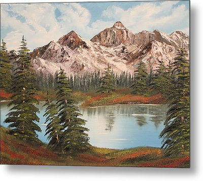 Metal Print featuring the painting Lakeside by Christie Minalga