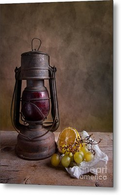 Lamp And Fruits Metal Print by Nailia Schwarz