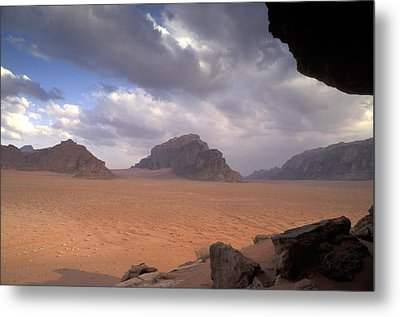 Landscape Of The Desert Metal Print by Richard Nowitz